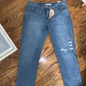 Levi's 311 skinny shaping jeans with cute flowers